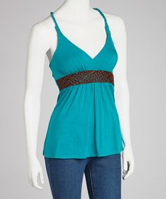 Take a look at this Teal Rope Racerback Tank on zulily today!