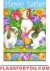 Easter Egg Bunnies Garden Flag