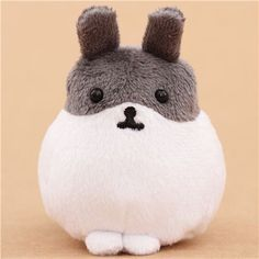 White-grey Mofutans mochi rabbit plush toy by San-X from Japan $6.37 http://thingsfromjapan.net/white-grey-mofutans-mochi-rabbit-plush-toy-san-x-japan/ #mofutans mochi bunny #san x products #kawaii Japanese stuff