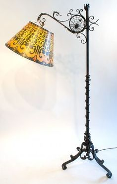 Wrought Iron Floor Lamps Fair Cal Lighting Bo903Fl Craftman Wrought Iron Pennyfoot Iron Floor Design Inspiration