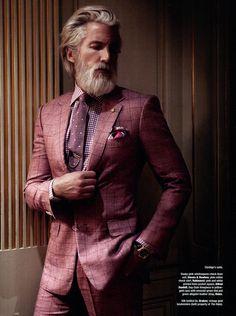 beard old man stylish