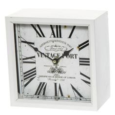 Kello pöydälle 20x20 cm vaalea - Seinäkellot - Hyvän Tuulen Puoti