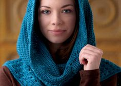 This crochet hood is so gorgeous! Free Crochet Hooded Scarf Pattern: Hooded Scarf by Sedruola Maruska