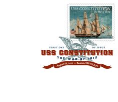 The War of 1812: USS Constitution Digital Color Postmark | Cancellation | USA Philatelic