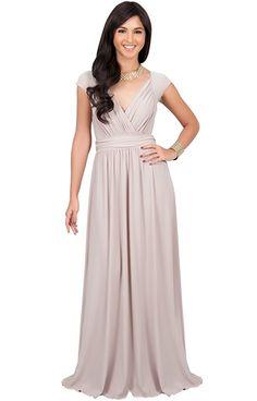 Amazon.com: KOH KOH Womens Long Cap Short Sleeve Elegant Cocktail Evening Gown Maxi Dress: Clothing