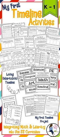 K Social Studies Activities  My Timeline Students Create A
