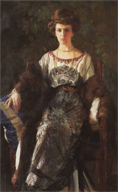 Portrait of Ewfimia Nosova, 1911  Konstantin Somov