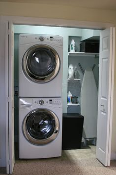 Bathroom:Exciting Small Laundry Room Makeover Ideas For Love Melinda Space Stackable Washer Dryer With Sink Renovations And Photos Pictures Very Houzz Hgtv Diy Organizing Hanging Clothes Stacked Exciting Remodelaholic Small Laundry Room Makeover Ideas For Pantry Laundry Room, Laundry Room Remodel, Small Laundry Rooms, Laundry Room Organization, Laundry Room Design, Laundry In Bathroom, Basement Laundry, Ikea Laundry, Compact Laundry