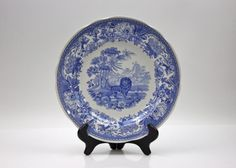 Spode Aesops Fables Plate / Blue Room Collection ♥ See more at www.PeriodElegance.etsy.com  #vintagechina #spodechina #spodeplate