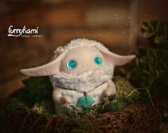 MADE TO ORDER Albino creature art toy plush by Furrykami on Etsy
