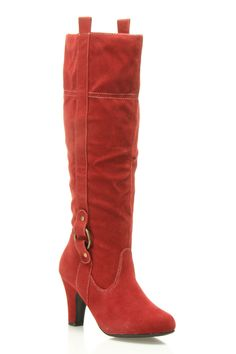 Charles Albert Riding Boot With Heel In Cranberry