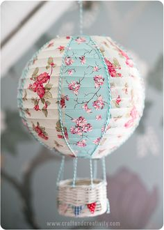 Paper Lantern Turned Into Hot Air Balloon #DIY - Incredible DIY Paper Lanterns For Your Home