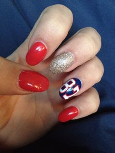 New England patriot nails!!