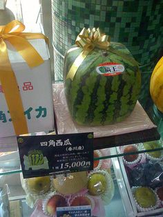 Extreme veggie modification -  in Japan, they grow stuff in container molds to get specific shapes - like square watermelons...or Buddha shaped pears...