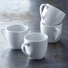 Williams Sonoma Open Kitchen Espresso Cups, Set of 4 Coffee Mug Sets, Mugs Set, Ceramic Coffee Cups, Espresso Cups Set, Open Kitchen, Kitchen Dining, Williams Sonoma, Tea Cup Saucer, Dinnerware