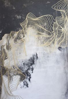 Elegant painting exploring the layers & complexities of the unknown // Tracie Cheng