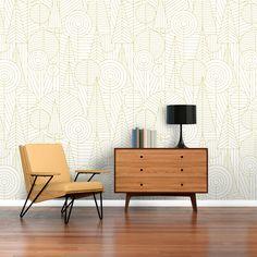 Papel pintado Marrak. Basoa, verde. Ambiente Cabinet, Storage, Furniture, Home Decor, Wall Papers, House Decorations, Blue Nails, Paper Envelopes, Green