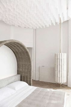 I much as I'd love to reproduce this amazing bed canopy by interior designer Emmanuelle Simon I...