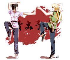 Shizune and Tsunade