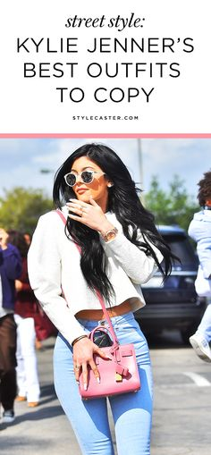 Kylie Jenner's Best Street Style Outfits to Copy   She's most know for her next-level makeup skills and ever-changing hairstyles, but her fashion game is on point too. With a killer body and signature sexy style, Kylie is constantly serving us bold fashion looks from head-to-toe. Here are 45 of Kylie's best outfits to copy ASAP.