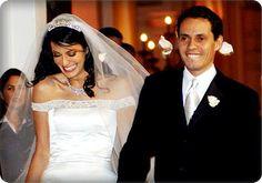Dayanara Torres and Marc Anthony