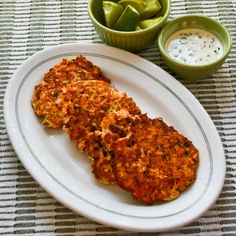 This recipe for Asian-Flavored Wild Salmon Patties with Ginger, Scallions, and Sesame-Lime Mayonnaise is a delightful change from regular grilled salmon. The sauce is a huge plus in this recipe! [from KalynsKitchen.com] #LowCarb #GlutenFree