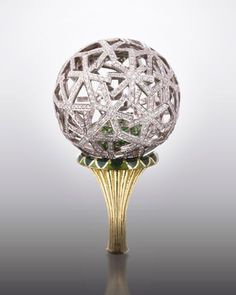 A tsavorite and diamond Dandelion ring, by Ilgiz F.