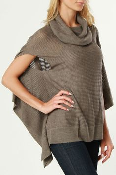 Crochet Sweater Poncho... CUTE... perfect for Houston Fall/Winter