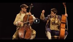 Listening to someone playing cello has never been more exciting. These two guys known under their name � 2cellos are performing a great cover of the song Thunderstruck by AC/DC. They only need one instrument to make this song rock!