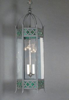 Medium Six Sided Steel Lantern two available