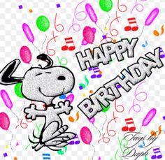 Happy birthday from Snoopy! Cartoon Happy Birthday, Wish You Happy Birthday, Snoopy Birthday, Happy Birthday Pictures, 25 Birthday, Birthday Signs, Birthday Quotes, Birthday Celebration, Birthday Ideas