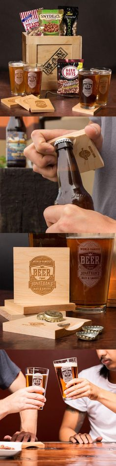 Cheers to all Fathers with the Personalized Barware Crate. Great for Father's Day! | ManCrates
