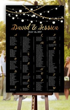 Fairy Light Wedding Seating Chart - Order yours at Boardman Printing. Seating Arrangement Wedding, Seating Plan Wedding, Wedding Table, Our Wedding, Light Wedding, Seating Plans, Wedding Ideas, Wedding Gold, Table Seating