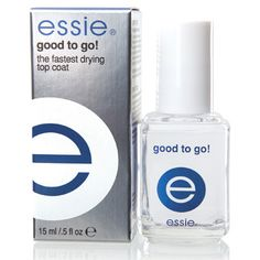Essie Good To Go - this is what my salon uses and I use it at home now too in between visits. Very thick and shiny - makes it feel like gel.