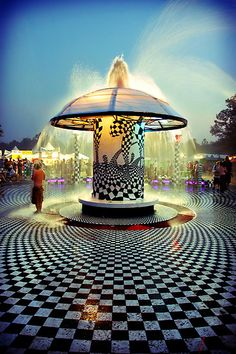 The mushroom fountain. My one true love
