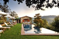 """This setting and type of house are high on my """"I want"""" list. -  Villa Spinaltermine is a luxurious haven, with mesmerizing views of the private sanctuary of the Castello di Reschio estate in Umbria, Italy."""