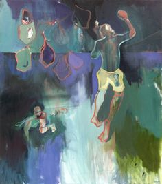 """Leap by Charlotte Evans - Oil on canvas - 30"""" x 34"""" - For questions or prices please contact us at info@igifa.com"""
