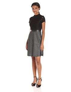Ellen Tracy Women's Luxe Tweed Lace Combo Dress - http://www.darrenblogs.com/2016/09/ellen-tracy-womens-luxe-tweed-lace-combo-dress/