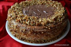 Tort grilias cu ciocolata si nuci caramelizate | Savori Urbane My Recipes, Sweet Recipes, Dessert Recipes, Cooking Recipes, Pastry Cake, Holiday Baking, Chocolate Cake, Sweet Treats, Home
