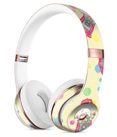 Watercolour Feather Floats Full-Body Skin Kit for the Beats by Dre Solo 3 Wireless Headphones Best In Ear Headphones, Bluetooth Headphones, Noise Reduction Headphones, Beats By Dre, Iphone Accessories, Full Body, Headset, Gumball Machine, Medical Technology