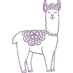 Silhouette Design Store: Llama middle of board with heart and flowers around it. Or use for jewelry holder and write Dressed To Impress. Silhouette Design, Silhouette Projects, Lama Animal, Embroidery Patterns, Hand Embroidery, Vinyl Projects, String Art, Coloring Pages, Needlework