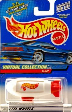 Hot Wheels 2000-142 Virtual Collection Cars WHITE Blimp 1:64 Scale by Mattel. $4.99. 1:64 Scale. 2000 - Mattel - Hot Wheels - Collector #142 - Virtual Collection - Blimp - White & Red - Rotating Messages - 1:64 Scale Die Cast Metal - Out of Production - New - Mint - Rare - LImited Edition - Collectible