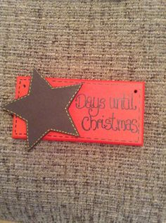 Christmas countdown wooden plaque/ sign  on Etsy, £6.00 ... Made by me