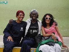 Ariana Talía Baena, Jerrica Rivas y María Fernanda Hernández. De la comunidad del LGTBI, encontraron en este hogar de paso un espacio de recuperación con respeto y alegría.