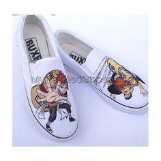 Anime Shoes Naruto Gaara Shoes Naruto Gaara Hand Painted Shoes