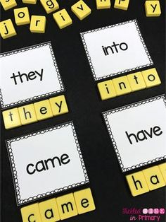 10 Ways to Practice Sight Words -practicing sight words with our letter tiles