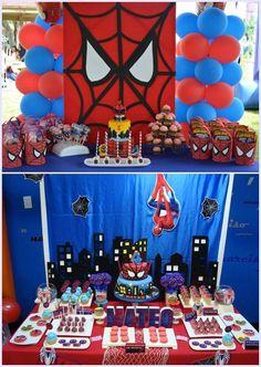 Fireman Birthday, Avengers Birthday, Batman Birthday, Superhero Birthday Party, First Birthday Parties, Spiderman Theme Party, Superhero Party Decorations, Birthday Party Decorations Diy, Birthday Party Themes