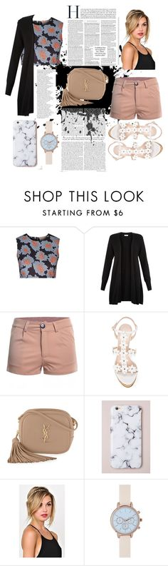 """""""Untitled #29"""" by saulia99 ❤ liked on Polyvore featuring Topshop, Monsoon, Oscar de la Renta, Yves Saint Laurent, New Look, cute, outfit, look and cutecardigan"""