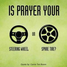 Is prayer your steer