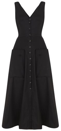 'Zoey' Cotton Dress in Black or Red